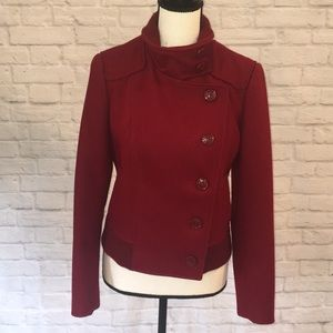 Kenneth Cole Red Wool Moto jacket